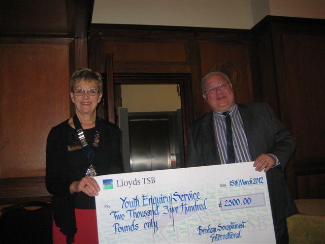 Cheque Presentation 2012